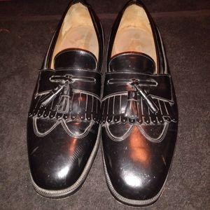 J. Murphy Mens Black Kiltie Tassel Loafers sz 11.5